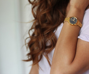 hair, watch, and curls image