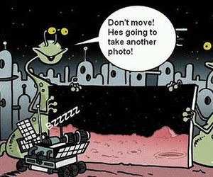 funny, aliens, and mars image