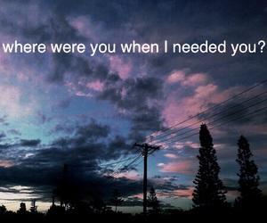 i need you, need, and sky image