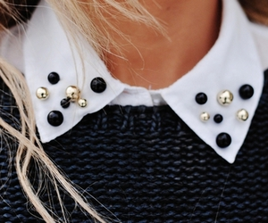 fashion, blonde, and collar image