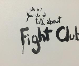 acuarela, fight club, and graffiti image