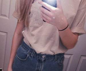 blonde, fashion, and high waisted image