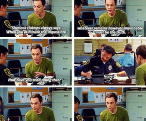 big bang theory, funny, and sherlock holmes image
