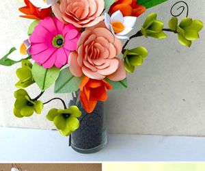 crafts, diy, and flower image