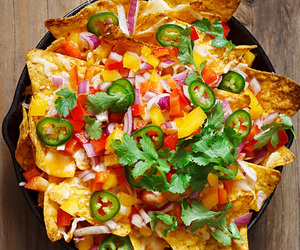 chips, color, and food image