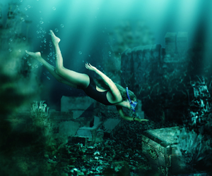 discover, ocean, and swimming image