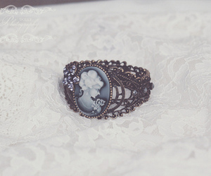 ring, vintage, and lace image