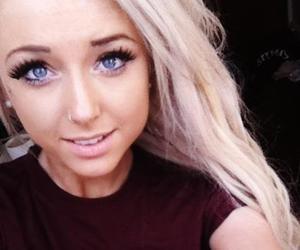 adorable, false eyelashes, and long hair image