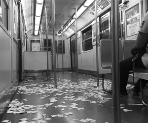 alone, girl, and metro image