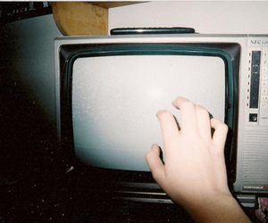 tv, hand, and vintage image