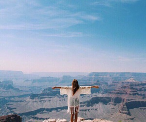 girl, travel, and freedom image