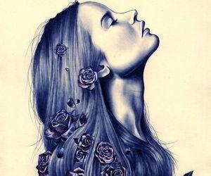 creative, draws, and girl image