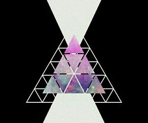 galaxy, grunge, and triangle image