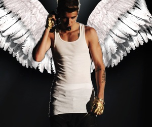 justin bieber, angel, and justin image
