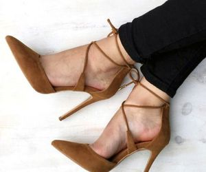 brown, heels, and fashion image