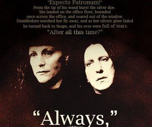 harry potter, severus snape, and always image
