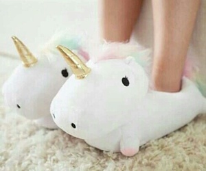 fluffy, cute, and unicorn image