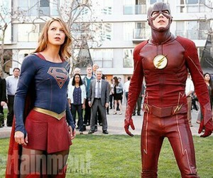 Supergirl, grant gustin, and flash image