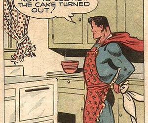 comic, superman, and cake image