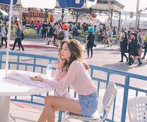 fashion, girl, and pastel image