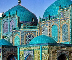 mosque, blue, and islam image