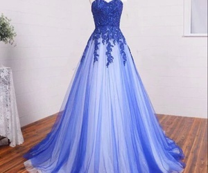 dress, blue, and clothes image