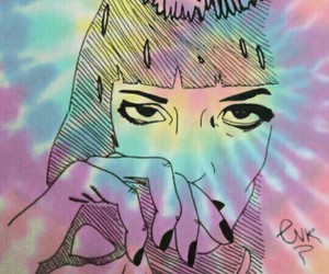 colours, mia wallace, and psychedelic image