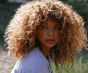 hair, curly, and natural image