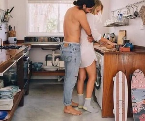 cooking, spring, and couple image