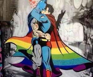 gay, batman, and superman image