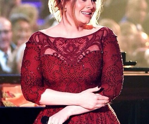 Adele, vermelho, and red image