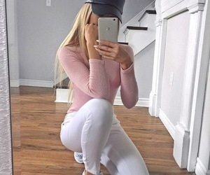 blonde, style, and white image