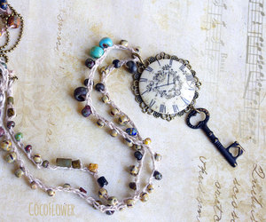 beaded necklace, necklace, and antique necklace image