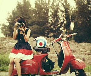 girl, photography, and red image