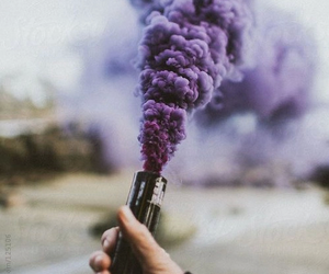 purple, smoke, and grunge image