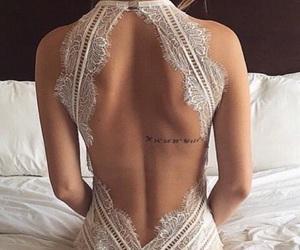 back, dress, and wedding dress image