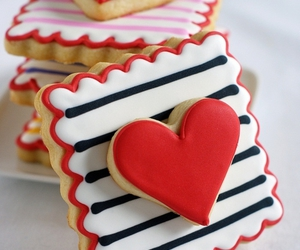 heart, Cookies, and food image