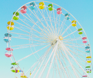 summer, ferris wheel, and photography image