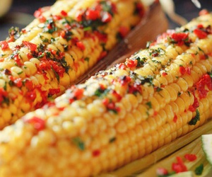 corn, delicious, and food image