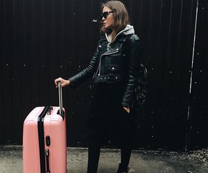 black, fashion, and airport image
