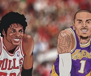 chris brown, michael jackson, and art image