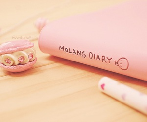 cute, pink, and diary image