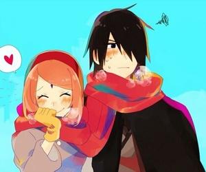 couple, naruto, and sasuke uchiha image