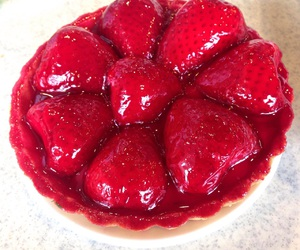 amazing, food, and tarte aux fraises image