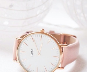 pink, watch, and fashion image