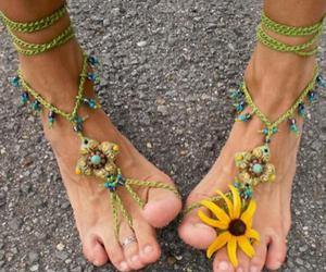 flowers, feet, and summer image