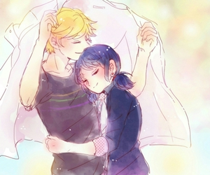 miraculous ladybug, marinette, and Adrien image