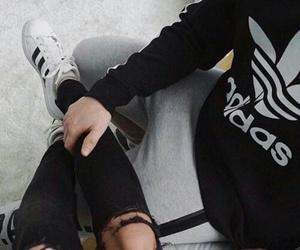 adidas, sweater, and adidassuperstar image