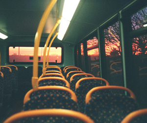 bus, road, and sunset image