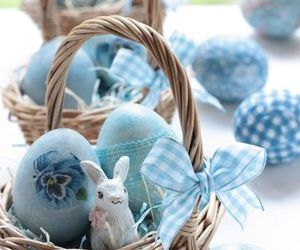 easter, eggs, and rabbit image